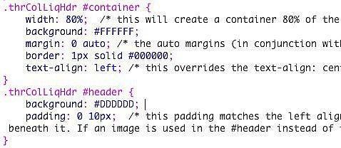 Come utilizzare e modificare layout CSS e pagine di esempio di Dreamweaver