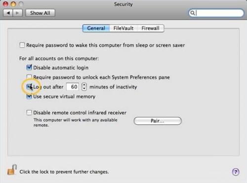 Come impostare un Mac su logout automaticamente