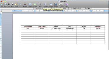 Creare una Mailing List in Word