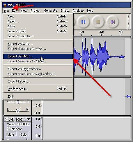 Come salvare il tuo Podcast in Audacity ed esportare il MP3
