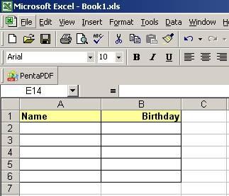 Come creare una tabella con una colonna di data