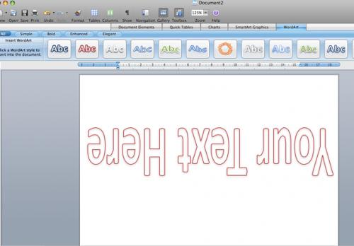 Come ruotare il testo 180 gradi in MS Word