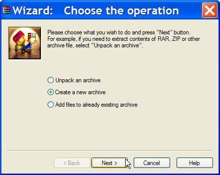 Come creare una Zip con spanning