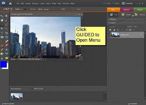 Come utilizzare Modifica guidata in Adobe Photoshop Elements