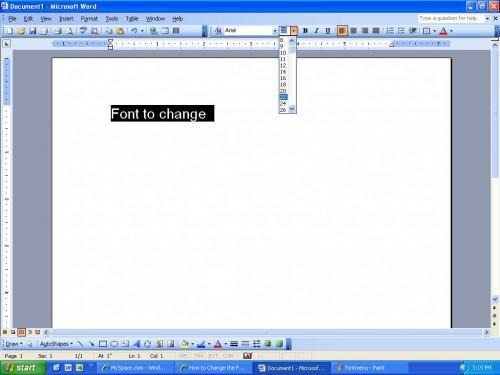 Come modificare lo stile di Font e la dimensione del carattere in Microsoft Word