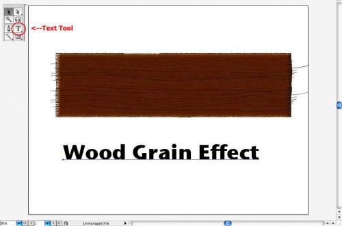 Come utilizzare effetti di testo Adobe Illustrator venatura del legno