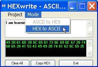 Come convertire una stringa ASCII esadecimale formato