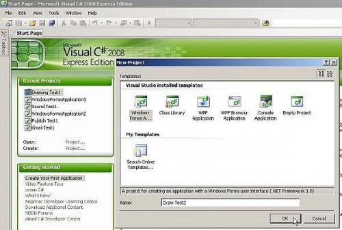 Come disegnare una stringa, quadrato, rettangolo, cerchio, ellisse e poligono in Microsoft Visual C# (C Sharp)