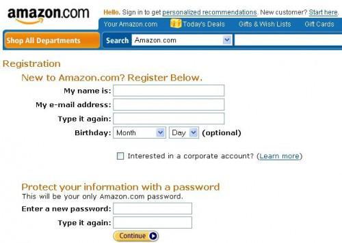 Come registrarsi per un Account di Amazon Prime