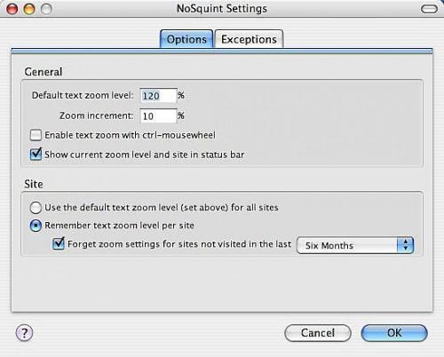 Come Stop socchiudendo gli occhi e la lettura più facile in Firefox