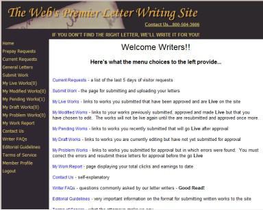 Come fare soldi scrivendo lettere Online