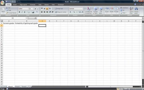 Come calcolare la probabilità di utilizzo di Excel