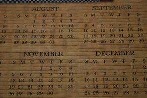 Come creare un calendario di Excel per anno bisestile