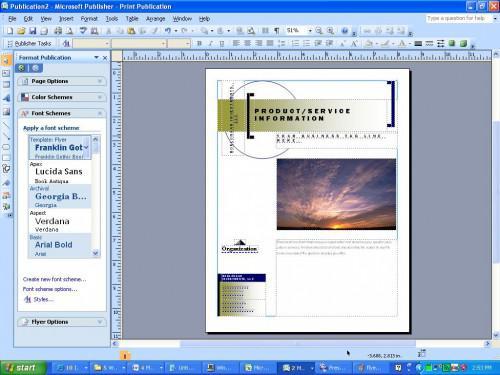 Come creare un volantino utilizzando Microsoft Publisher