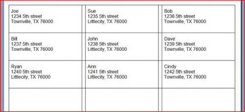 Come fare indirizzo etichette con Excel