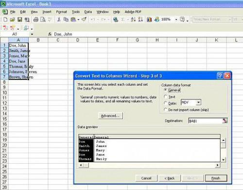 Come convertire i nomi per rendere un foglio di calcolo