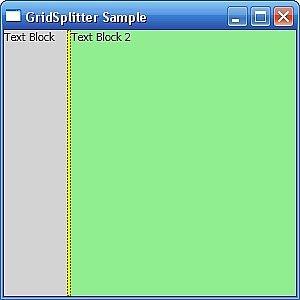 Come utilizzare un oggetto Gridsplitter in WPF