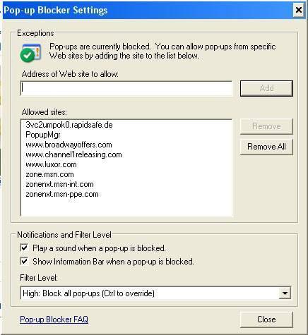 Come bloccare i popup su IE