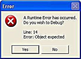 Come sbarazzarsi di un errore di Runtime