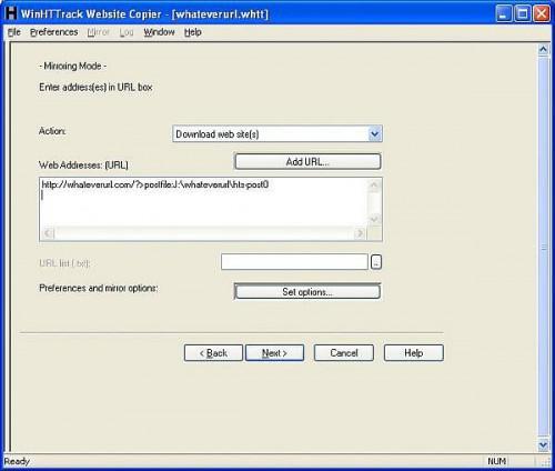Come configurare HTTrack per un sito Web con Password di protezione
