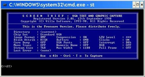 Come stampare una schermata di DOS